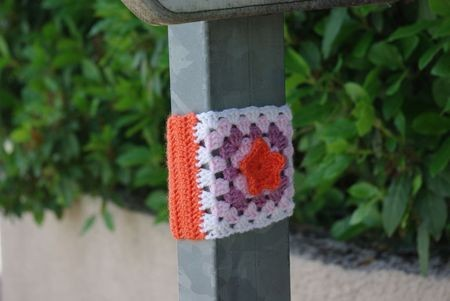 yarn, bombing, déco, dehors, crochet, tricot, instalation, sauvage,