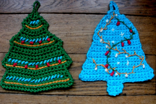 manique, pothloder, crochet, crocheted,sapin, tree, christmas, gift, cadeau, noel, amusant, fun, easy, facile, chat,cat, santa, pere noel, renne, reindeer,pattern, explication, tuto,free, gratuit
