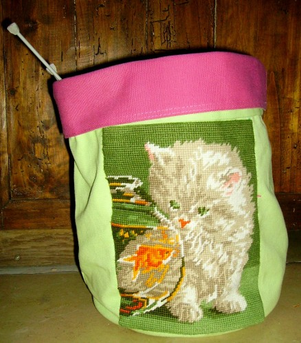 canevas, chat, cheval, poche, sac, tissu, recup, récupération, emaus, emmaus, diy, cat, horse, second,hand, knitting, purse, bag, sac, tricot,