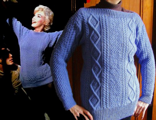 marilyn, pull, sweater, my heart belongs to daddy, iconic, irlandais, pattern, explications,