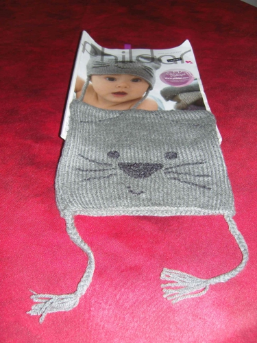 phildar, chat, bonnet, layette, debutant, tricot, cat, pattern, cute, mignon,