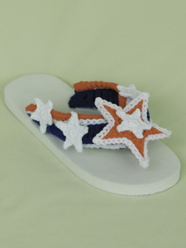 tong, flip, flop, crochet, customisation, tuto, americain, usa, anglais, pattern,