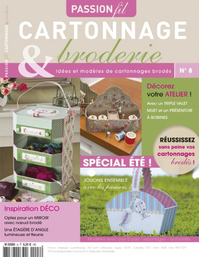 pasion, cartonnage, couture, broderie, crochet, tricot, magazine, no 7