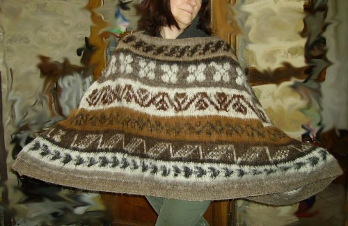 poncho, vintage, pure, laine, alpaga, customisation, express, by mme crochet,