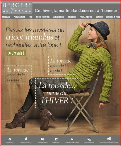 tricot, irlandais, point, mode, recup,