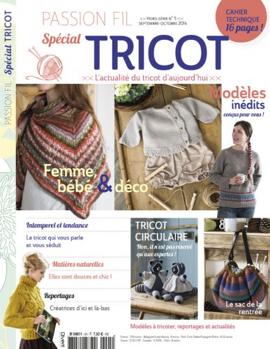 passion, fil , tricot, special, septembre, snood, kokeshi,