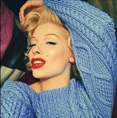 vvpmm, marilyn monroe, marylin monroe, pull, bleu, sweater , blue, my heart belongs to daddy, movie, iconic, tuto, gratuit,