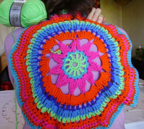 crochet, printemps, multicolor, drops, gratuit, en rond,