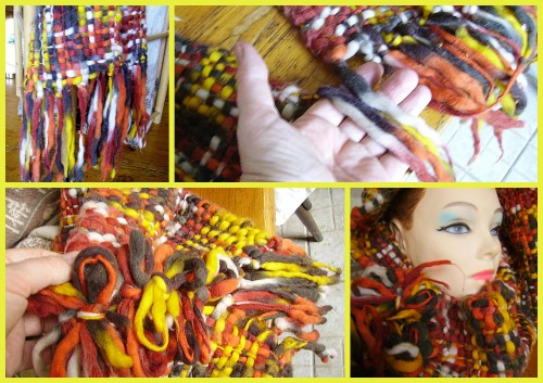 snood, echarpe, diy, 5 minutes, rapido, noeuds, picture, photo ,